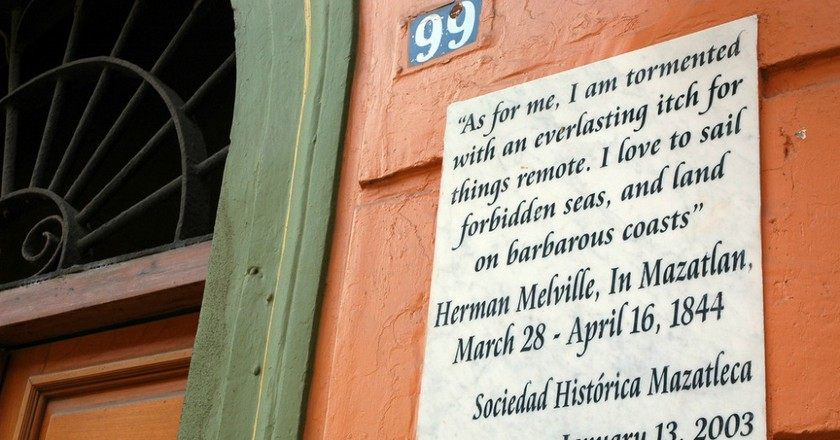 """""""As for me, I am tormented with an everlasting itch for things remote. I love to sail forbidden seas, and land on barbarous coasts."""" Herman Melville, In Mazatlan, March 28 - April 16, 1844, Sociedad Historica Mazatleca, Mexico 