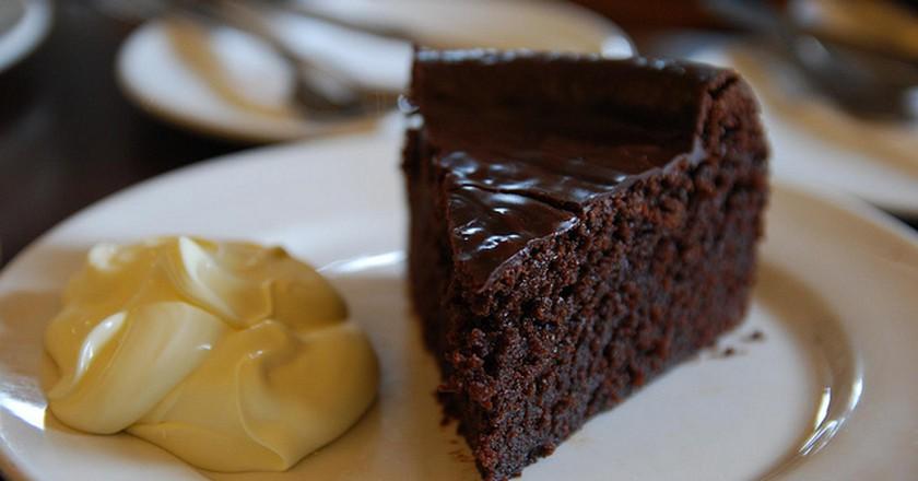 Chocolate Cake with Custard | ©avlxyz/Flickr