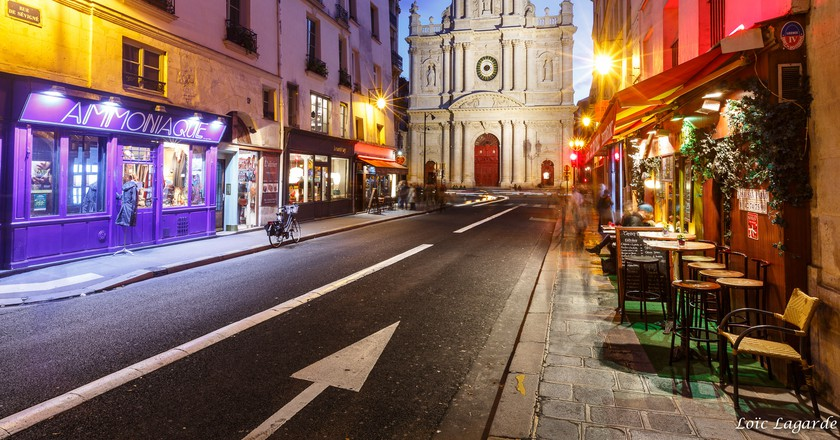 Saint Paul from rue Sévigné in Le Marais in Paris by night | ©  Loïc Lagarde/Flickr