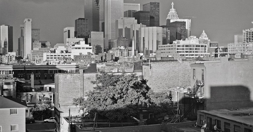 Peter MacCallum, Skyline Series, From 20 Vanauley Street, Sixth Floor, August 1991 | Image courtesy of the Artist and Diaz Contemporary