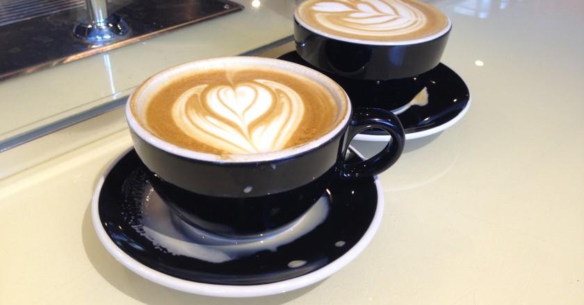Vanilla Lattes at Coffee Commissary | © Steven Ray Morris