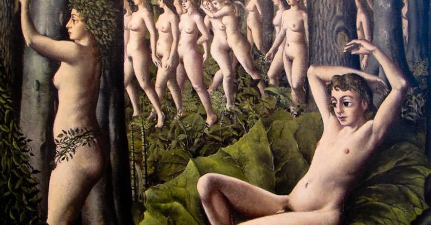 Paul Delvaux Belgian, 1897–1994 The Awakening of the Forest, 1939 | © Ed Bierman/Flickr