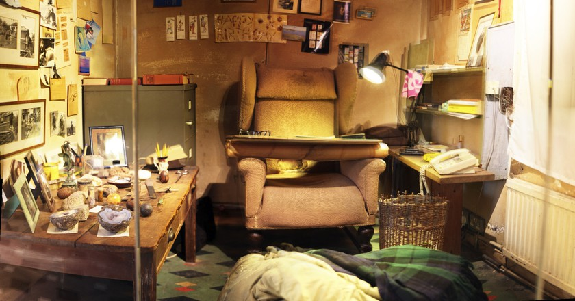 Inside Roald Dahl's original Writing Hut in Solo Gallery    Courtesy of The Roald Dahl Museum and Story Centre