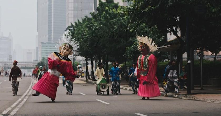 Ondel Ondel in Jakarta | © Erica Anne Knecht/That Wild Road
