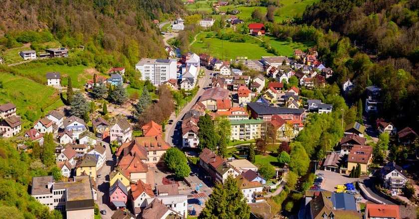 The small village Hornberg is located in the Gutach Valley in the Black Forest