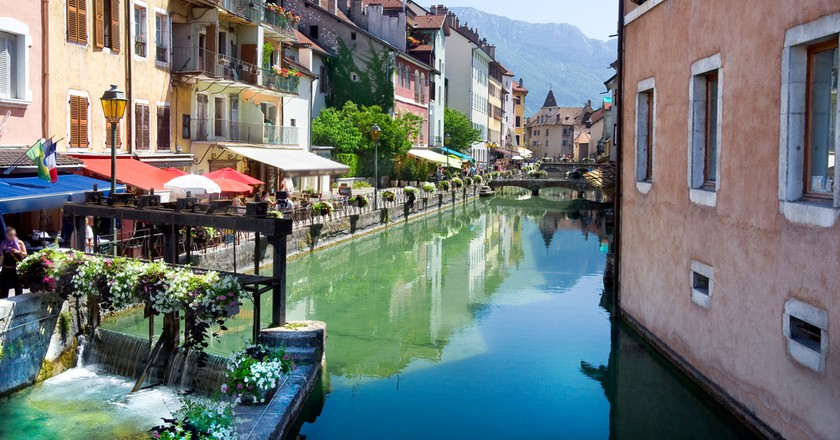 Canal running through Annecy's old town