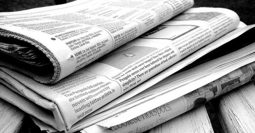 Black and White Newspaper   © Jon S/Flickr