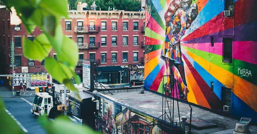 Eduardo Kobra Street Art on the Highline NYC | © Nan Palmero/Flickr