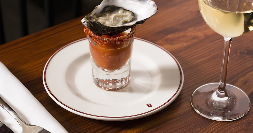 Bloody Mary Oyster Shooter| © Ed Reeve