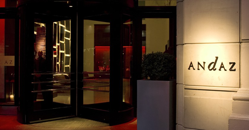 Front Doors of the Andaz Hotel   © Sam Sung Un Kim