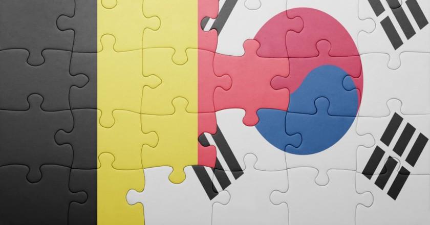 Korean-Belgian Flags | Shutterstock_paid_photo