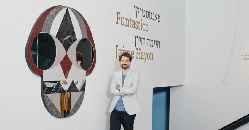Face Mirror, Jaime Hayon, Funtastico Exhibition, The Center for Contemporary Art, Tel Aviv, November 30, 2015, until April 30, 2016 | ©  Liah Chesnokov