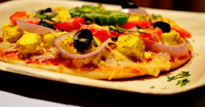 Kadhai Paneer Pizza | Bakester, Indiranagar/Courtesy of Zomato