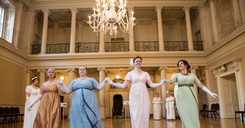 Jane Austen Dancers at Assembly Rooms | Courtesy of Bath & North East Somerset Council © Freia Turland