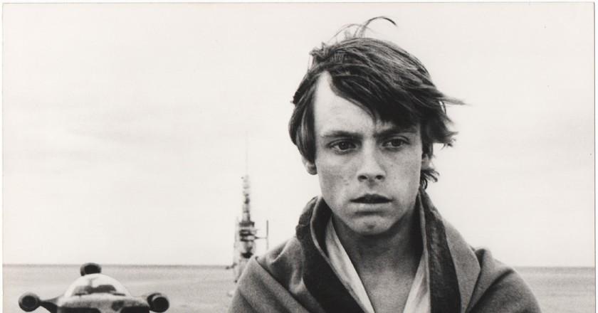 Luke Skywalker in Star Wars, 1977 by John Jay   Courtesy of ONGallery