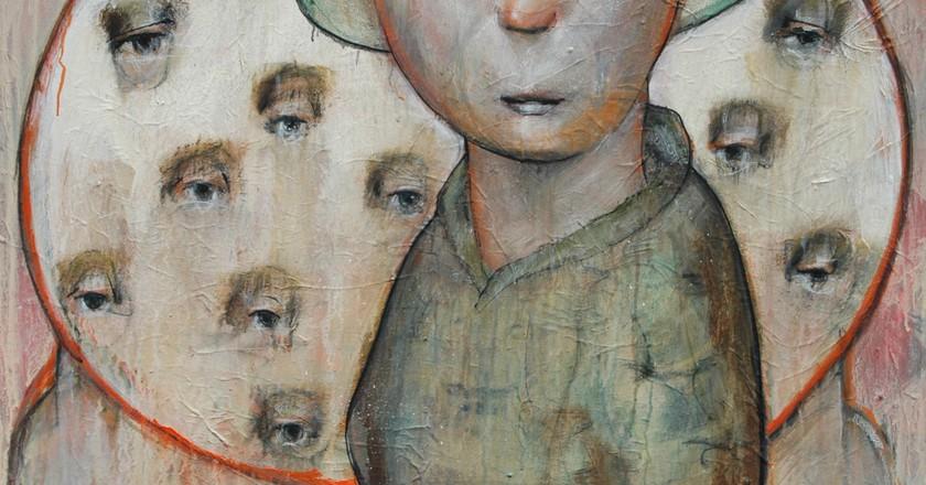 'My Potato Farmer Ancestor', 2016, Acrylic on Canvas, 30x40 | Courtesy of Patrick Palmer