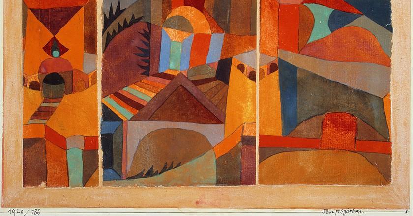 Paul Klee, Temple Garden. Wikicommons