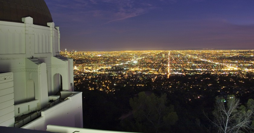 View from the top of the Griffith Observatory | Courtesy of the Griffith Observatory