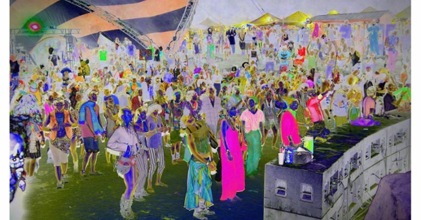 Sarah Anne Johnson Zombie Dance, 2015 photoshopped chromogenic print 28 x 42 in. Courtesy Stephen Bulger Gallery, Toronto; Galerie Division, Montreal; Julie Saul Gallery, New York