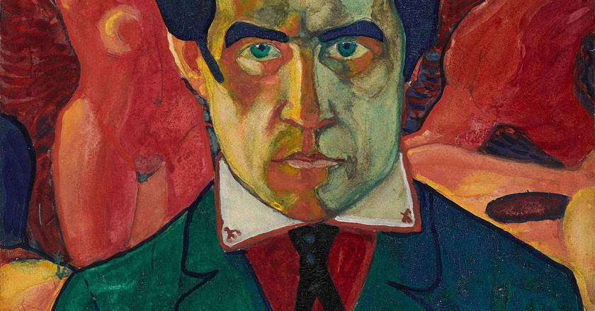 Kazimir Malevich, Self-Portrait, 27 x 26.8 cm, Tretyakov Gallery, circa 1910 | © Coldcreation/WikiCommons