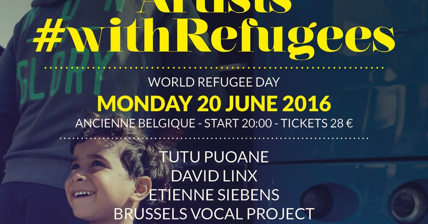 Artists #withRefugees | Courtesy of AB Brussels