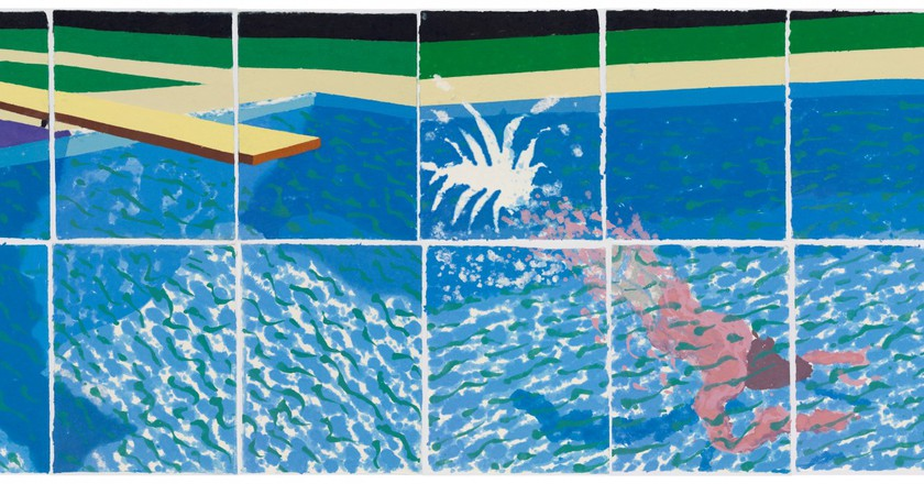 """""""Le Plongeur Paper Pool 18 (1978)"""" by David Hockney 