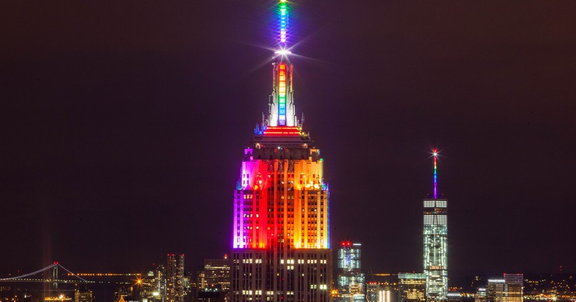 Empire State Building in Rainbow Colors for Gay Pride 2015 | ©Anthony Quintano/Flickr