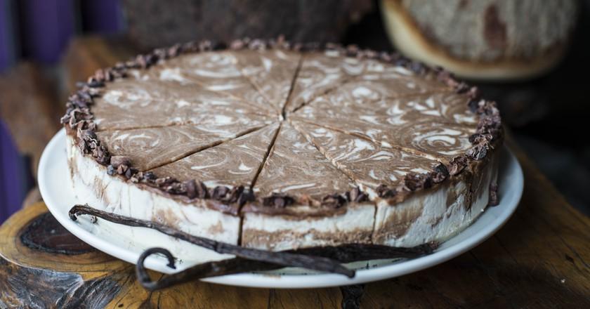 8. Raw Chocolate and Vanilla Marble Cheesecake  Courtesy of Vantra