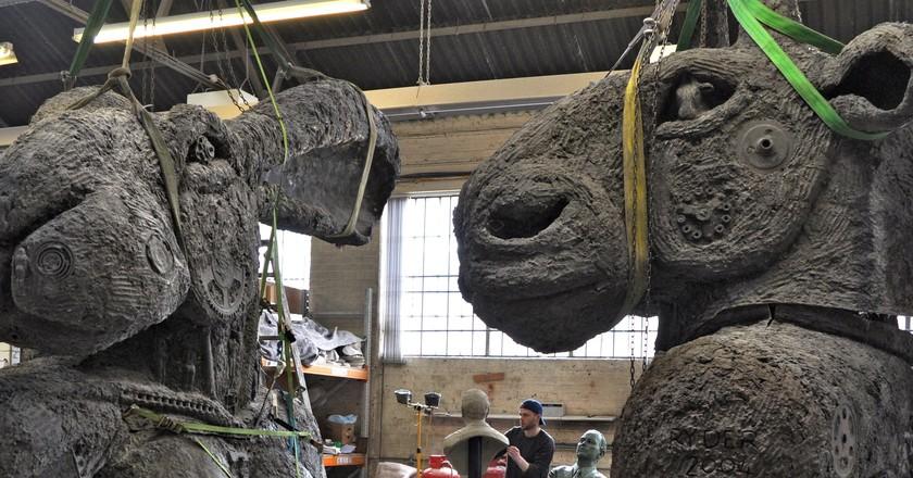 Lady Hare & Minotaur | Courtesy of Sophie Ryder