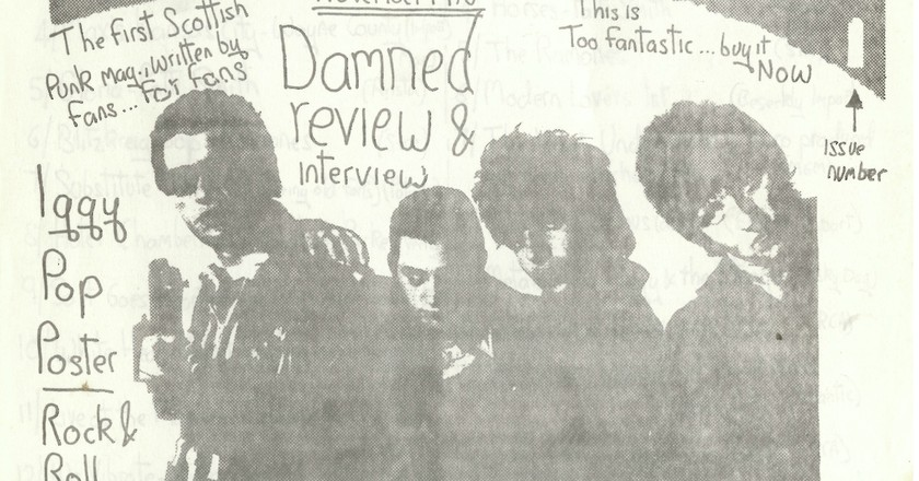The first issue of Ripped and Torn created by Tony Drayton (Tony D) on display at Punk 1976-78 at the British Library | Courtesy of British Library