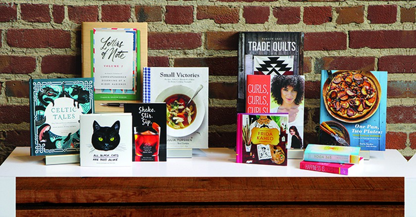 A display of upcoming books published by Chronicle Books | Courtesy of Chronicle Books