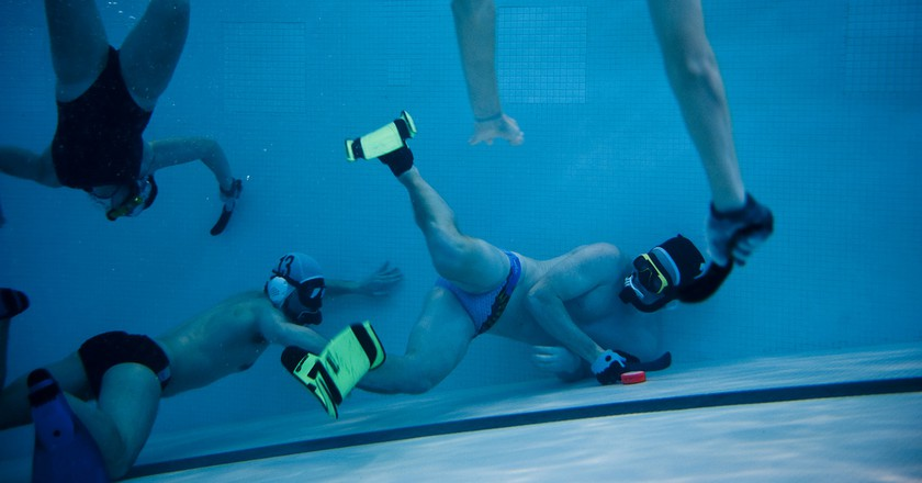 Coast Guard Academy Underwater Hockey Team   © US Coast Guard Academy / Flickr