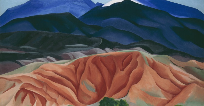 Black Mesa Landscape, New Mexico / Out Back of Marie's II, 1930|©Georgia O'Keeffe Museum