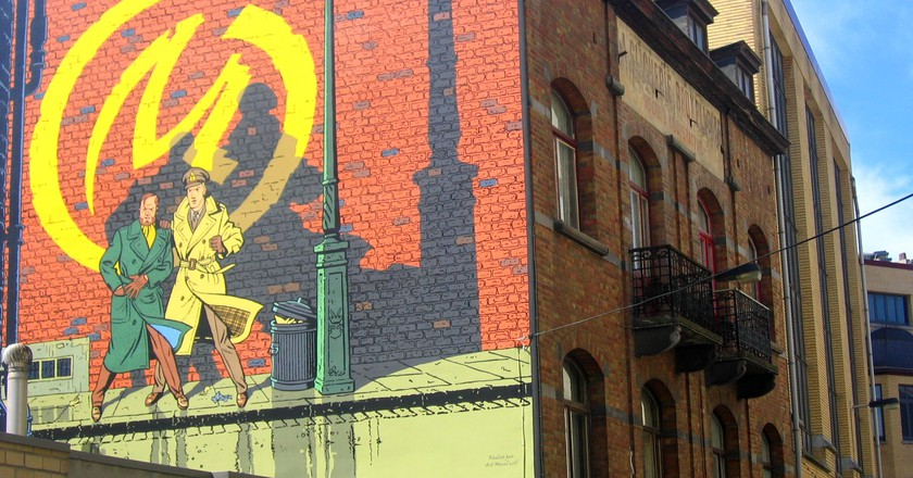 Blake and Mortimer's iconic album cover on the wall of a Brussels home | © visitbrussels.be