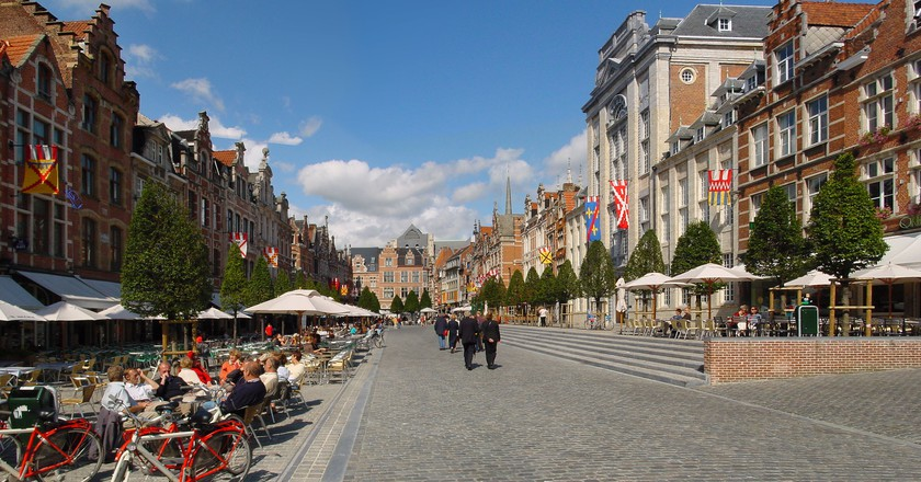 Leuven's Oude Markt, 'the longest bar in the world'