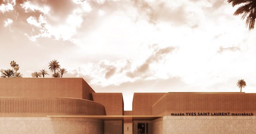 Musée Yves Saint Laurent Marrakech, exterior (c) 2016 Studio KO Fondation Pierre Bergé Yves Saint Laurent