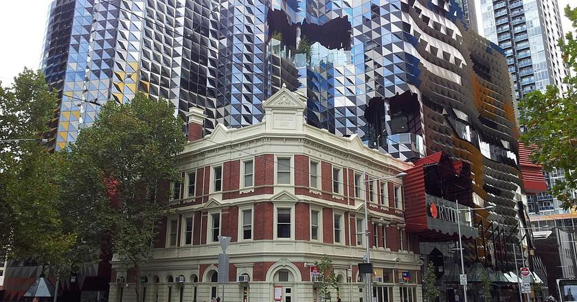 SAB, Melbourne CBD, as viewed from Swanston Street