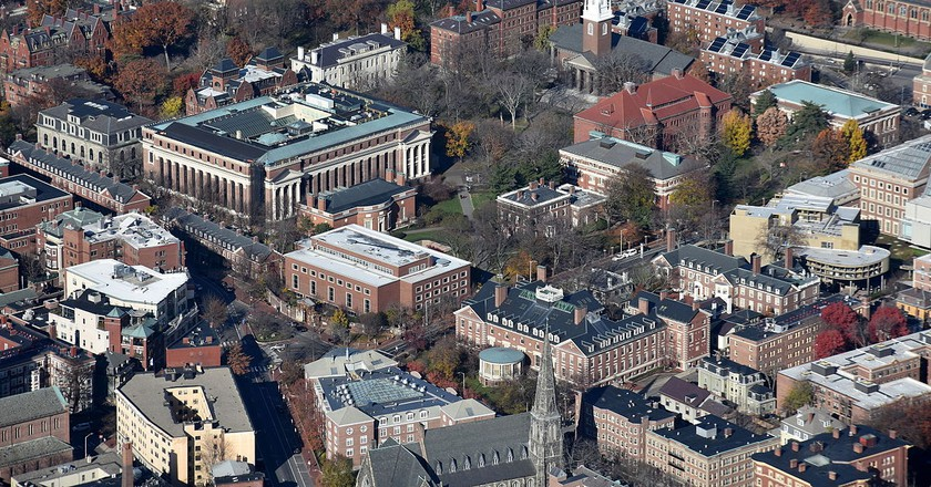 Aerial view of Harvard Yard | © Nick Allen/WikCommons