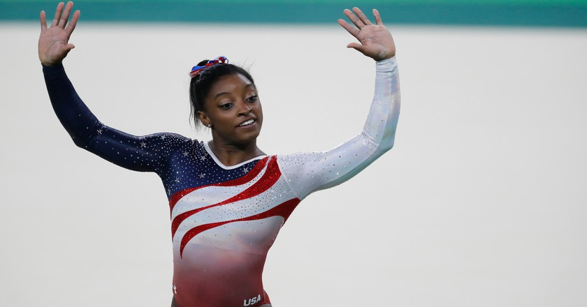 Simone Biles was part of the United States' record-setting women's gymnastics team | © Flickr