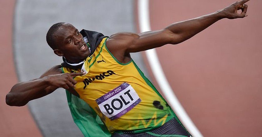 Usain Bolt doing his trademark 'To Di World' pose | © Flickr