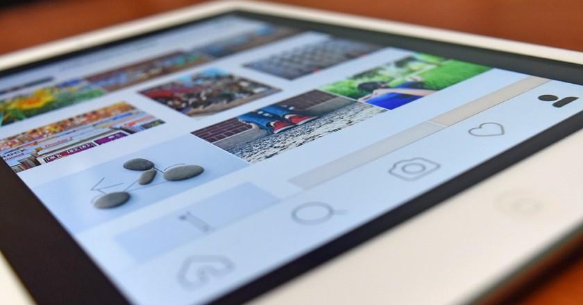 Instagram on smartphone. via Pixabay