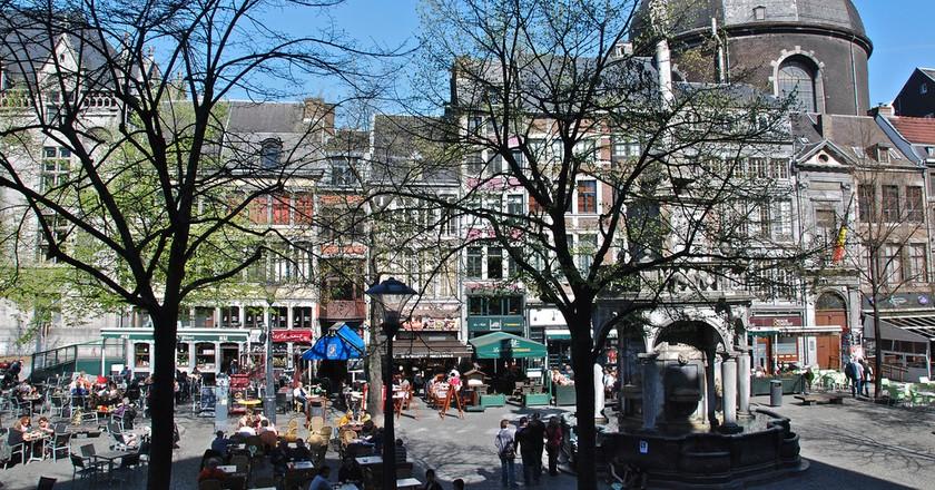 Liège's Place du Marché Square boasts a bunch of charming terraces   © Stephane Mignon/Flickr