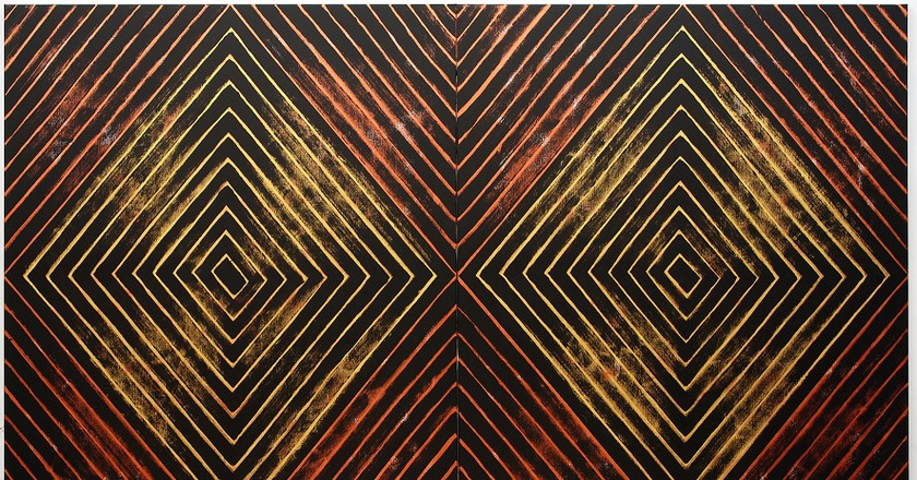 Gordon Bennett, 'Number Nine,' 2008, acrylic paint on linen; Tate and the Museum of Contemporary Art Australia, purchased jointly with funds provided by the Qantas Foundation 2016, image courtesy Museum of Contemporary Art Australia and Milani Gallery, Brisbane © The Estate of Gordon Bennett, 2016, photograph by Carl Warner   Courtesy MCA