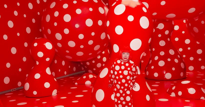 "Yayoi Kusama, Kusama with Dots Obsession, 2012 Installation View: Kusama's solo exhibition ""YAYOI KUSAMA ETERNITY OF ETERNAL ETERNITY"" at Matsumoto City Museum of Art, Nagano, Japan   © Yayoi Kusama/Courtesy of Moderna Museet, Stockholm"