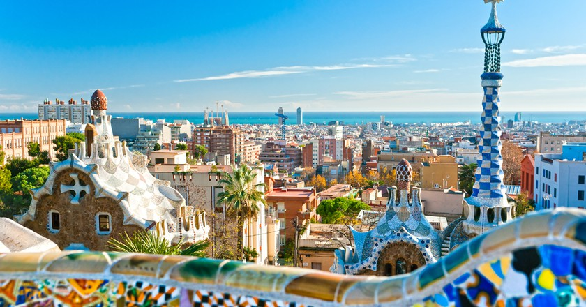 Park Guell in Barcelona, Spain | © Luciano Mortula, Shutterstock