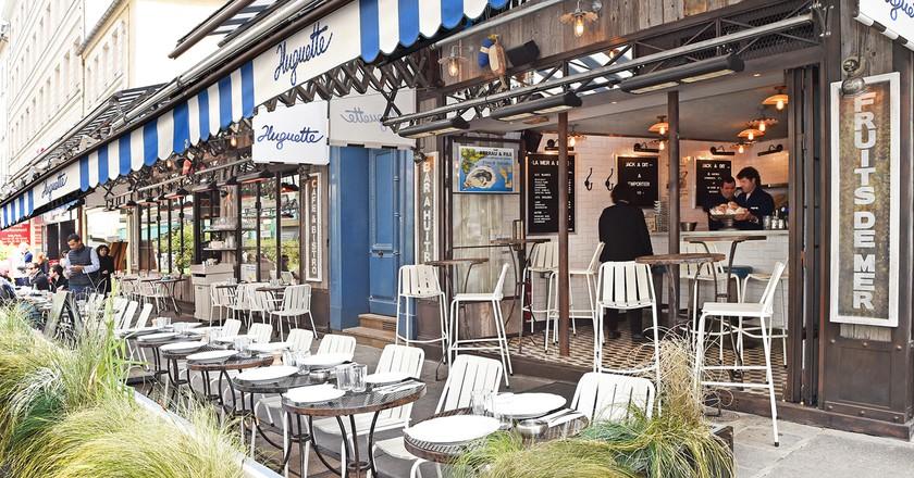 The terrace at Huguette │ Courtesy of Huguette and Michel Tréhet