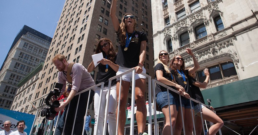 The USWNT ticker tape parade in NYC | © Anthony Quintano/Flickr