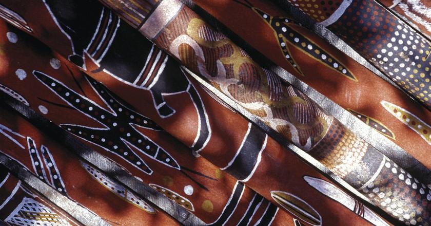 Didgeridoos, Barunga Festival, Barunga, NT   ©Paul Blackmore, courtesy of Tourism Australia