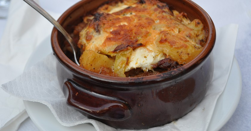 Moussaka at Taverna Lyhnari; Skiathos | © Kullez/Flickr