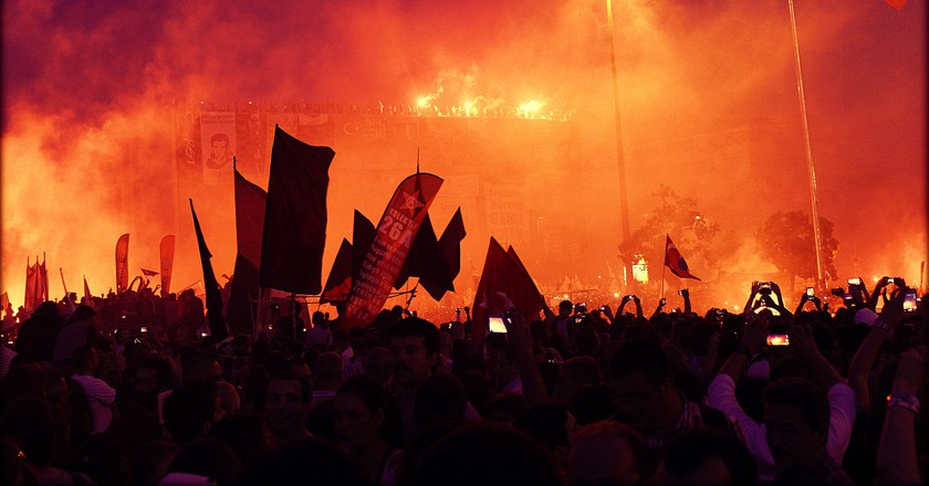 The Gezi Park Protests, Istanbul, taken on the night of June 8th, 2013.   ©Dada Verd / Flickr